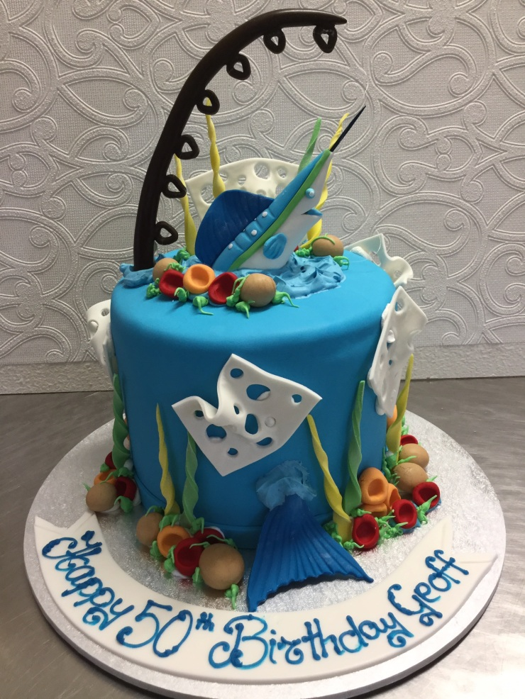 Marlin fishing cake